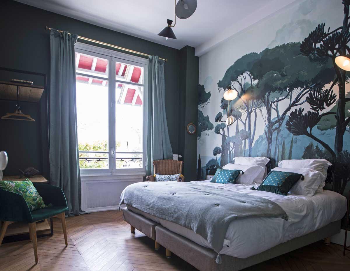 Chambre Jade au niveau 1 de la Maison ReN à Deauville