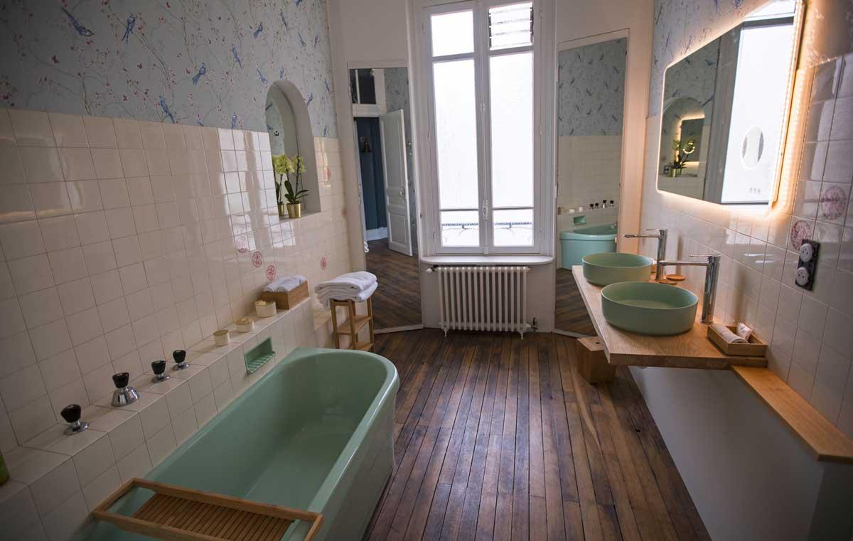 Salle de bain de la chambre Jade, niveau 1, Villa à louer à Deauville