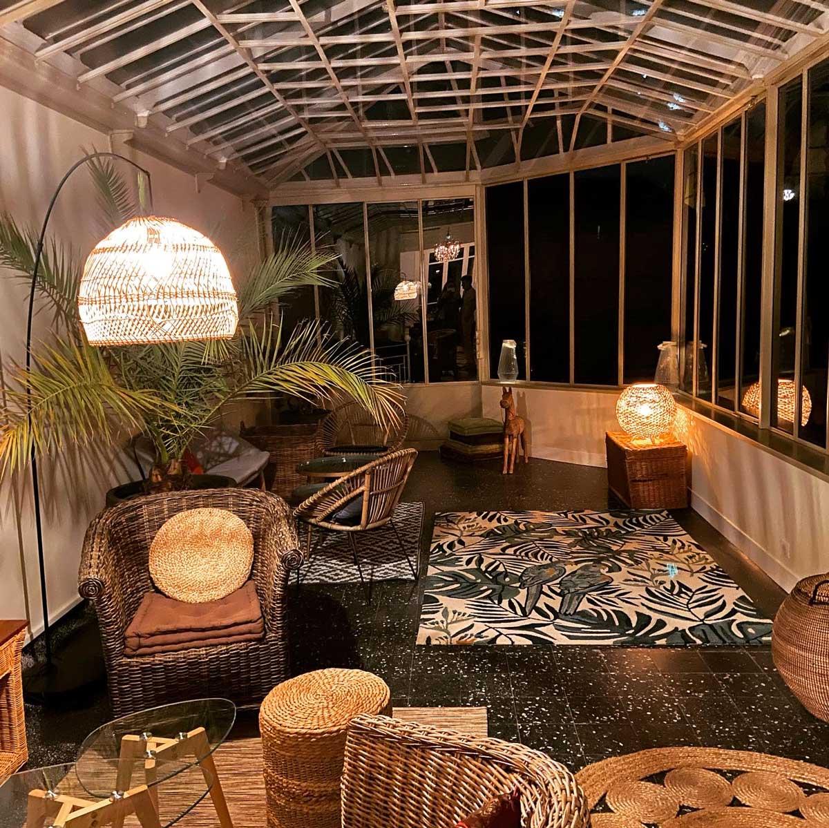 La véranda de nuit - Maison ReN à louer à Deauville
